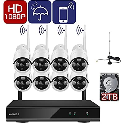 ONWOTE 1080P HD Wireless Security Camera System