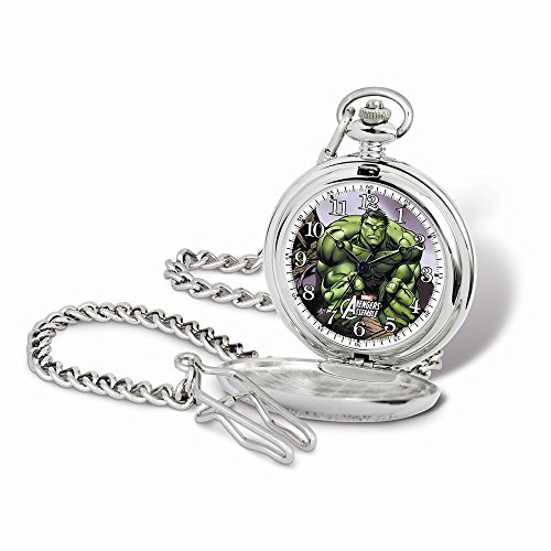 Marvel+Watches Products : Marvel Hulk Pocket Watch w/Chain