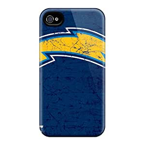 Iphone 4/4s Fuq5910nuKd Support Personal Customs Fashion San Diego Chargers Pattern High Quality Hard Cell-phone Cases -JohnPrimeauMaurice