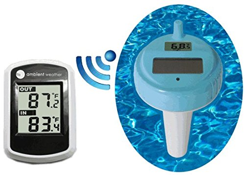 Ambient Weather WS-42 Wireless Indoor Temperature and Floating Pool and Spa - Digital Spa Thermometer