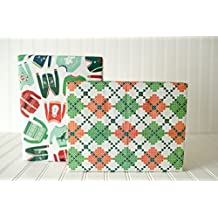 Christmas Ugly Sweaters/ Argyle Knit (6 sheet Value Pack) - Eco-friendly Wrapping Paper – Reversible - Gift Wrap by Wrappily