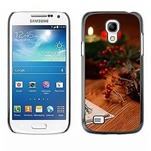 TopCaseStore / la caja del caucho duro de la cubierta de protección de la piel - Christmas Candles & Cards - Samsung Galaxy S4 Mini i9190 MINI VERSION!