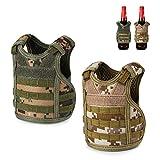 Accmor Tactical Mini Beer Vests Molle Beer Jacket 2 Pack Camouflage Beverage Coolie Cooler Adjustable Drink Bottle Vests Holder for 12oz or 16oz Cans or Bottles Decoration