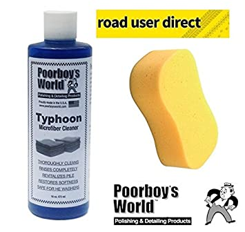 Poorboys Typhoon gamuza de microfibra/Toalla/Pad limpiador y Jumbo esponja