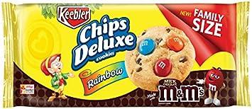 amazon com keebler chips deluxe cookies rainbow with m m s