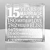 Kate Posh - Fifteen (15) years of Marriage - Our 15th Anniversary Keepsake & Paperweight