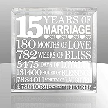 Amazon 15th Wedding Anniversary Gift For Couple 15th Anniversary Gifts For Her 15th Wedding