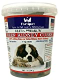 Cheap Fortipet Freeze Dried Raw Beef Cubes Healthy Dog and Cat Training Treat Supplement, Best USDA Grass Fed Beef (Beef Kidney Cube 7 Ounce, 1 Pack)