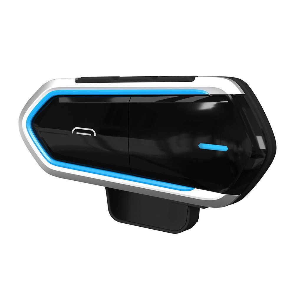 obiqngwi B35 Motocicleta Jinetes Casco intercomunicador Kit de Audio de interphone de Auriculares Bluetooth 4.1 Azul