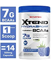 Scivation XTEND Sport BCAA Powder Blue raspberry   NSF Certified for Sport + Sugar Free Post Workout Muscle Recovery Drink with Amino Acids 30 Servings   Packaging May Vary