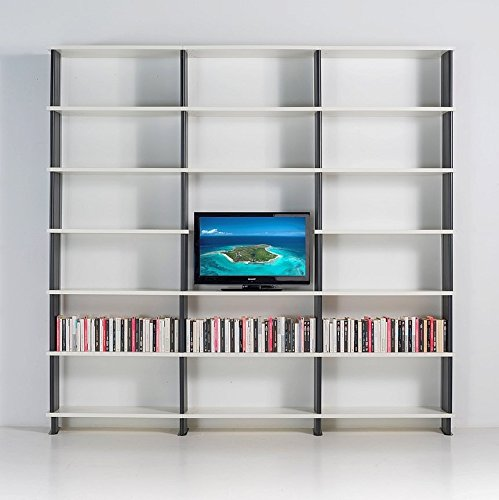 b cherregale nikka italian design modular tv m bel weisse regalsystem seiten schwarz von cm 270. Black Bedroom Furniture Sets. Home Design Ideas