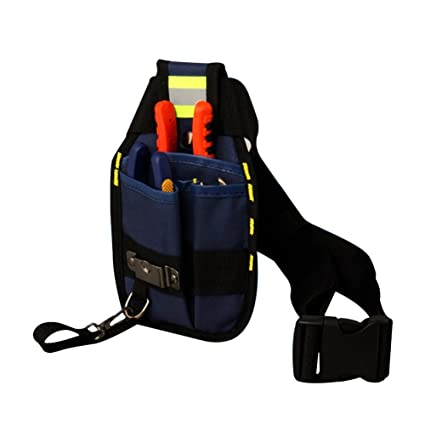 Tool Organizers 4 Color Waist Pocket Belt Tool Bag Pouch Hammers Pliers Screwdriver Holder Storage Hand Repair Tool Electricians Adjustable