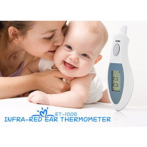 Aiweikang LCD Digital Ear Temperature Meter Infrared Baby IR Thermometer by Aiweikang