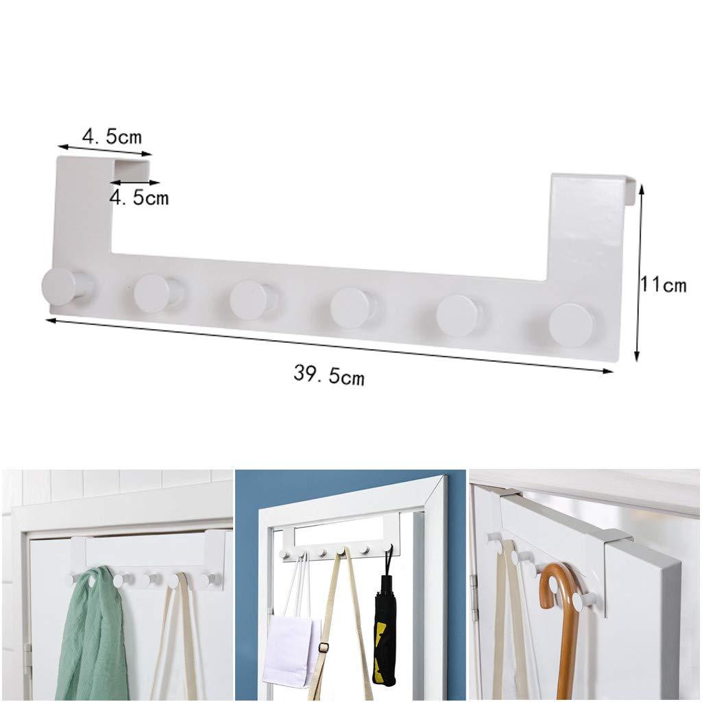 ViShow Iron Art Back Door Hanger Hook for Bathroom Kitchen Hanger Towel Clothes Door Rack,Easy Install Space Saving Bathroom Hooks