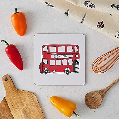 London Bus Pot Stand - Made in Britain of Heat Resistant Melamine ()