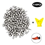 Track Spikes 1/4 Inch 110 Pieces Pyramid Shoes Spike Stainless Steel Track Cross Country Spikes Replacement Shoe Track Spikes with Spike Wrench-Silver