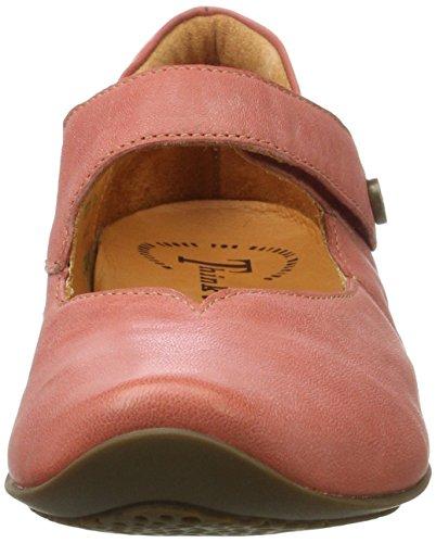 Think! Damen Chilli Geschlossene Ballerinas Rot (CHILLI/KOMBI 76)
