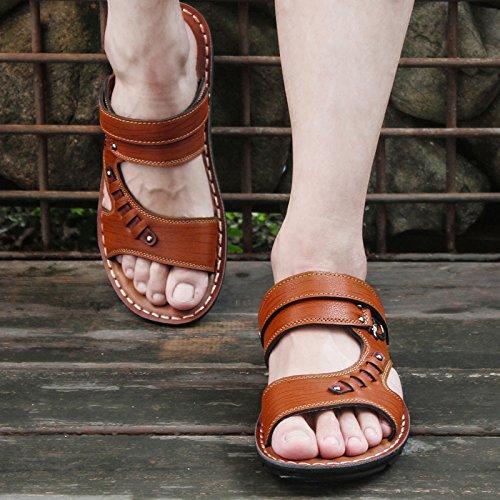 Sandalias Sandalias Y sandals Corea Hombre De 806 Brown Zapatos Verano 0qqUxAp7
