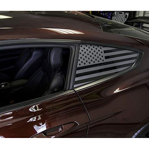 (XPLORE Offroad | American Flag Window Decals | Cars, 4x4, Trucks, Tesla | Universal Fit | Both Sides | Free Installation Tools (24