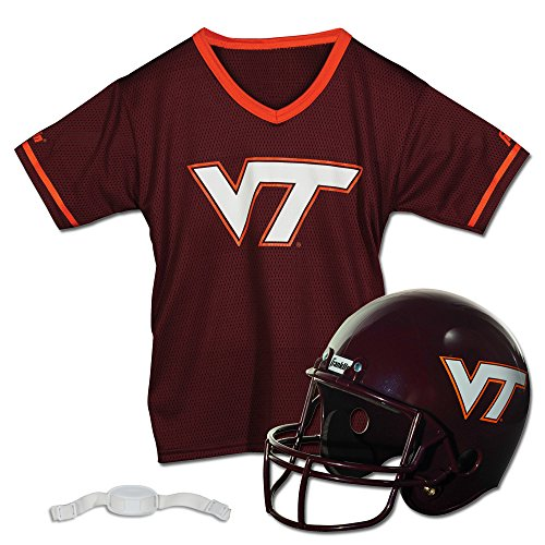 Halloween Tech Costumes (Franklin Sports NCAA Virginia Tech Hokies Helmet and Jersey Set)