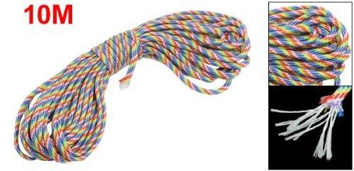 Strands Rattail Multicolor Nylon Corde tressée Parachute Rope 10 mètres