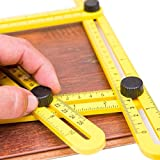 Multi angle measuring ruler, template folding and gift,layout tools with bolts and nuts for Handymen, Builders, Craftsmen and DIY-ers