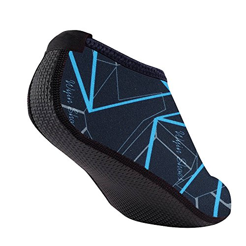 Danhjin Men Water Snorkeling Fin Socks Aqua Socks for All Water Sports-Scuba Diving Beach Yoga Shoes