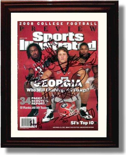 Framed UGA Georgia Bulldogs Sports Illustrated Autograph Print - 2008 College - Georgia Bulldogs Framed