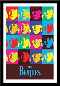 Amazon Com Beatles Music Group Pop Art Framed Print