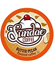 Sundae Ice Cream Flavored Coffee Pods, Compatible with 2.0 Keurig K-Cup Brewer,