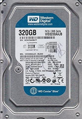 WD3200AAJB-00J3A0, DCM HARNNT2AGN, Western Digital 320GB IDE 3.5 Hard Drive (Western Digital Wd3200aajb)