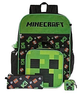 Minecraft 5 Piece School Backpack Set