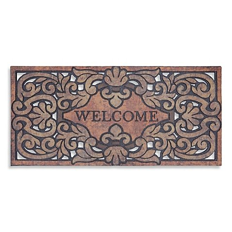 [Mohawk Home Versailles 22-Inch x 47-Inch Welcome Door Mat] (Live Here Door Mat)