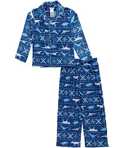 Kids Size XL Komar Kids Boys Sleepy Dino 2 Piece Pajama Set 14//16