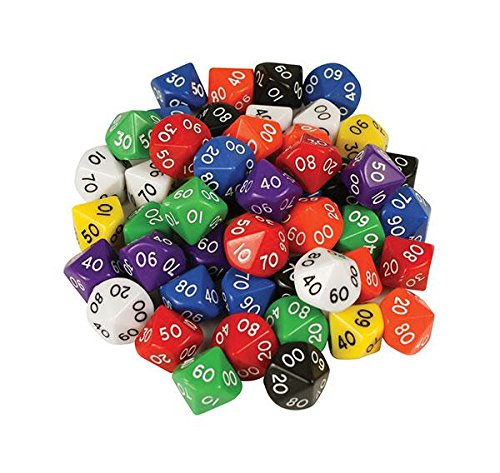 D10 Dice 10 Face 00-90 (Pack of 10) Tarquin