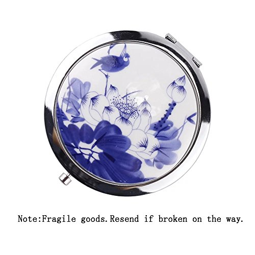 eyx-formula-round-chinese-ceramics-flower-makeup-mirror-foldable-compact-mirror-pocket-mirror-double