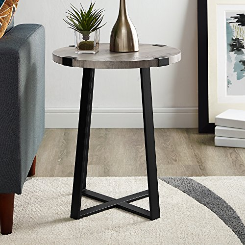 WE Furniture AZF18MWSTGW Side Table, Grey Wash by WE Furniture (Image #4)