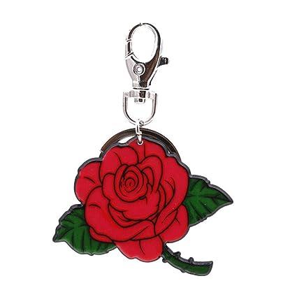 Haodou Flor de Rose Llavero Mujeres Bolsa Colgantes Charm ...