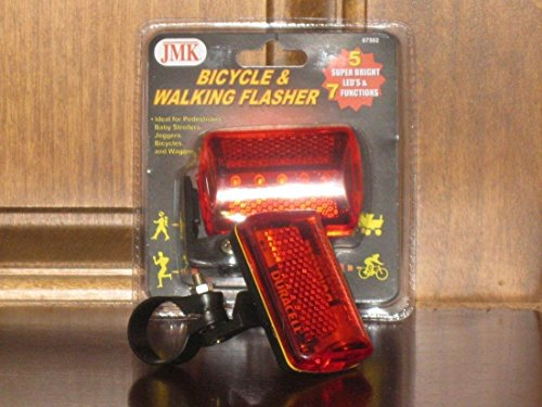 Purple Flashing Keypad (Pre-eminent 7 Modes Popular 5x Red LED Bike Light Tail Patterns Bicycle Flashing Safety Lamp with Belt Clip)