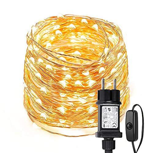 LE LED Lichterkette Draht aus Kupferdraht, ideal Stimmungslichter für Weihnachtsdeko Innen Außen Weihnachten Party