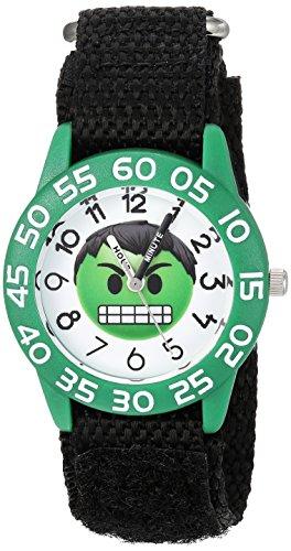 Marvel Boy's 'Emoji' Quartz Plastic and Nylon Casual Watch, Color:Black (Model: WMA000074)