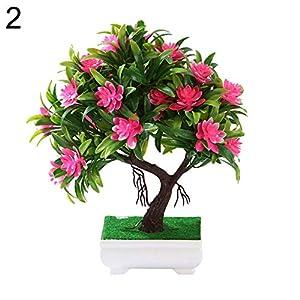 zzJiaCzs Artificial Rose Flower,1Pc Faux Lotus Lily Rose Flower Miniascape for Wedding Party Home Bonsai Decor - 2# 18