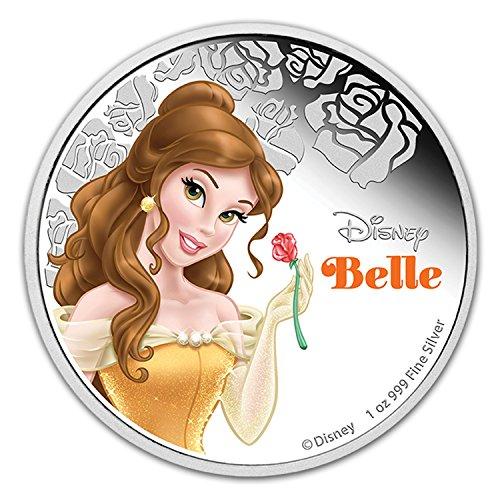 2021 NU Niue 1 oz Silver $2 Disney Princess Belle 1 OZ Brilliant Uncirculated