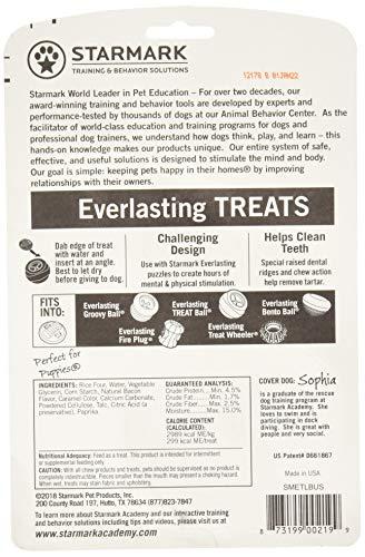 6 Pack Star Mark Everlasting Bacon Dog Dental Chews, Large