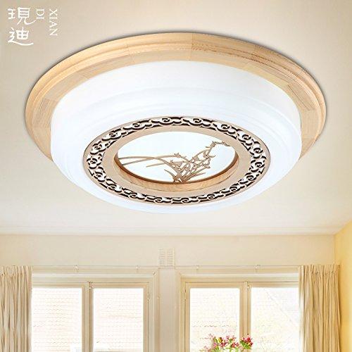 BLYC- Einfache Runde chinesische Fernbedienung dimmer Lampe Schlafzimmer Licht im japanischen Stil solide Holz Wohnzimmer Lampen und Chinesisch studieren LED tatami , 560mm-led