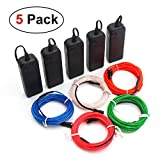 CPPSLEE EL Wire Kit Super Bright Portable Neon Light - 5 Color & 9.8 ft/pc - for Christmas Halloween Party Decoration - 4 Modes Battery Controllers