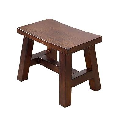 Amazon.com: Taburete de madera maciza para salón o sala de ...