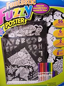 Amazon.com: Roseart Funtastic Fuzzy Poster Value Set ~ Puppy Kitten ...