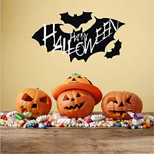 JJLOVER ❤ New DIY Vinyl Removable 4D Wall Sticker Halloween Dark Bats Decals Wallpaper for Wall Decal (J, -