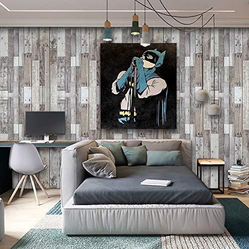 "Faux Wood Plank Wallpaper Wood Peel and Stick Wallpaper Self-Adhesive Removable Wood Grain Wallpaper Texture Wood Wallpaper Shiplap Contact Paper Vinyl Shelf Drawer Film Roll 17.7""x78.7"""